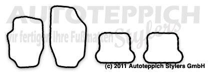 Auto-Fußmatten für Peugeot 307 CC Baujahr 2003-2008 4-teilig