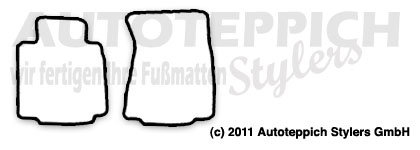Auto-Fußmatten für Nissan 370Z ab Baujahr 2008-