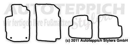 Auto-Fußmatten für Peugeot 406 Coupe Baujahr 1997-2005 4