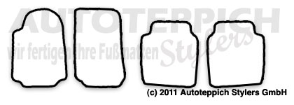 Auto-Fußmatten für Alfa Romeo 75