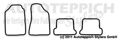 Auto-Fußmatten für Audi 80/90 Coupe B2 Typ 81+85