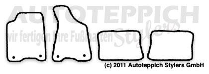 Auto-Fußmatten für Audi 80/90 B3+B4+S2 Typ 89+8C