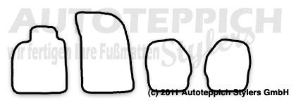 Auto-Fußmatten für Porsche 911 993 Baujahr 1993-1998 4-teilig