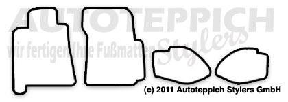 Auto-Fußmatten für Porsche 928 S4 GT GTS Baujahr 1977-1995