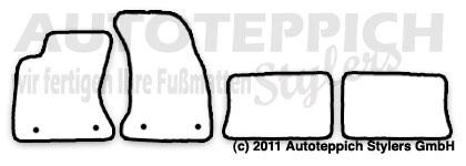 Auto-Fußmatten für Audi A4 B5 S4 8D