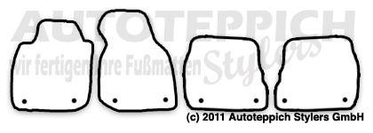 Auto-Fußmatten für Audi A6 C5 4B
