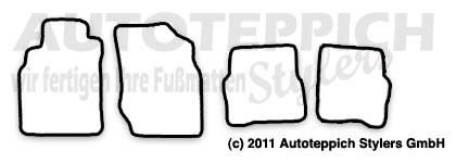 Auto-Fußmatten für Nissan Almera N16 Baujahr 2000-2006