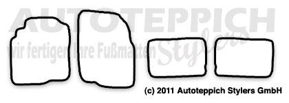 Auto-Fußmatten für Nissan Almera Tino V10 Baujahr 2000-2006