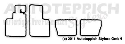 Auto-Fußmatten für Renault Alpine A310 4 Zyl. + V6 Baujahr