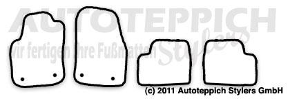Auto-Fußmatten für Opel Astra H Twin Top Baujahr 2006-2010