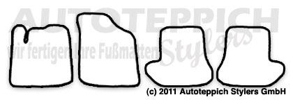 Auto-Fußmatten für Citroen C3 Pluriel Baujahr 2003-2010 4