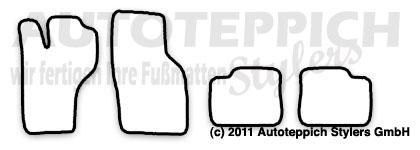 Auto-Fußmatten für Opel Calibra Turbo 4x4 Baujahr 1990