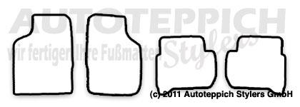 Auto-Fußmatten für Toyota Celica T16