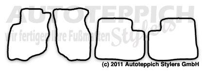 Auto-Fußmatten für Mitsubishi Colt 5 CJO Baujahr 1996-2004