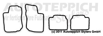 Auto-Fußmatten für Opel Corsa B Baujahr 1993-2000 4-teilig