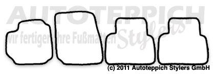 Auto-Fußmatten für Fiat Croma Typ 194 Baujahr 2005-2010 4