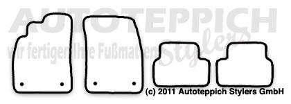 Auto-Fußmatten für Chevrolet Cruze ab Baujahr 2009- 4-teilig