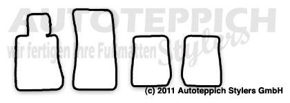Auto-Fußmatten für BMW E30 M3 + Cabrio