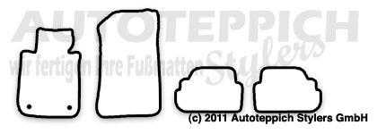 Auto-Fußmatten für BMW 1er E88+E82 Cabrio Coupe
