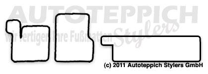 Auto-Fußmatten für Renault Espace 3 JE Baujahr 1997-2002