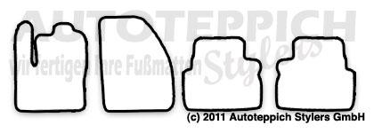 Auto-Fußmatten für Ford Focus C-Max MK1 C214 Baujahr 2003
