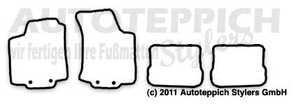 Auto-Fußmatten für VW Golf III
