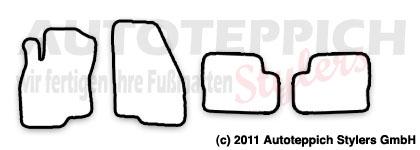Auto-Fußmatten für Fiat Grande Punto Typ 199 Baujahr 2005