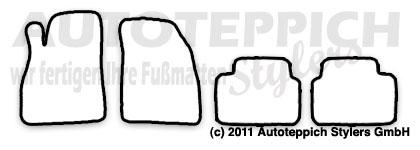 Auto-Fußmatten für Opel Insignia alle ab Baujahr 2008- 4