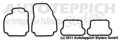Auto-Fußmatten für Renault Megane 2 Typ M CC Coupe Cabrio