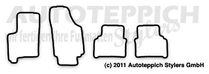 Auto-Fußmatten für Opel Meriva A Baujahr 2003-2010 4-teilig