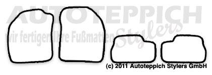Auto-Fußmatten für Nissan Micra 2 K11 Baujahr 1993-2003