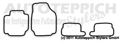 Auto-Fußmatten für Nissan Micra 3 K12 Baujahr 2003-2010