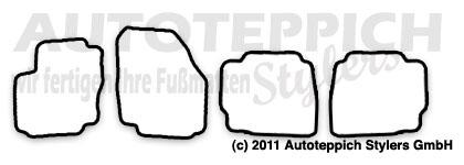 Auto-Fußmatten für Ford Mondeo BA7 ab Baujahr 2008- 4-teilig
