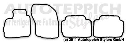 Auto-Fußmatten für Mitsubishi Outlander 2 CWOW Baujahr