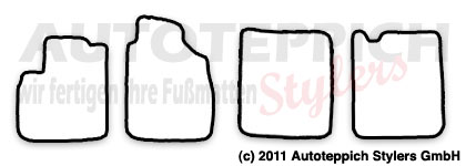 Auto-Fußmatten für Fiat Panda 2. Generation ab Baujahr