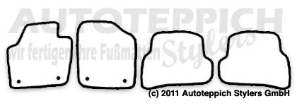 Auto-Fußmatten für VW Polo 6R
