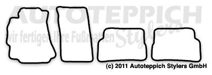 Auto-Fußmatten für Mazda RX-8 Baujahr 2003-2011 4-teilig