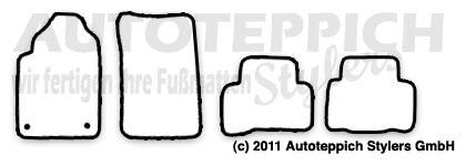 Auto-Fußmatten für SsangYong Rexton 2 Bj. 2004-2012