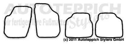 Auto-Fußmatten für Skoda Roomster 5J ab Baujahr 2006-