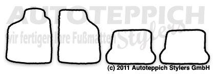 Auto-Fußmatten für VW Scirocco 1 + 2