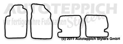 Auto-Fußmatten für Toyota Starlet P9