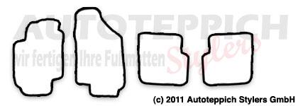 Auto-Fußmatten für Fiat Stilo Baujahr 2001-2008 4-teilig