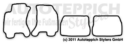 Auto-Fußmatten für Skoda Superb 1 Typ 3U4 Bj. 2001-2008 4