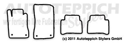 Auto-Fußmatten für Mercedes CLS W219 Baujahr 2004-2010 4