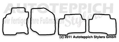 Auto-Fußmatten für Nissan X-Trail 1 T30 Baujahr 2001-2007