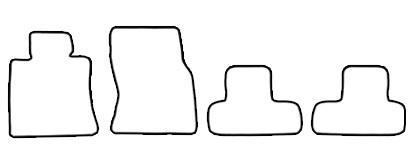 Auto-Fußmatten für BMW Mini Cooper S R58 R59 Cabrio