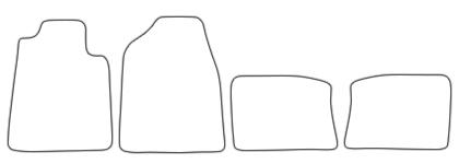 Auto-Fußmatten für Chrysler Sebring JR Limo 4tlg