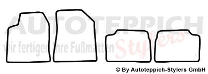 Auto-Fußmatten für Fiat Brava Baujahr 1995-2001 4-teilig