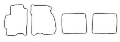 Auto-Fußmatten für Mazda 626 Baujahr 1998-2002 4-teilig