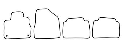 Auto-Fußmatten für Nissan Murano Z51 Facelift Baujahr 2010-
